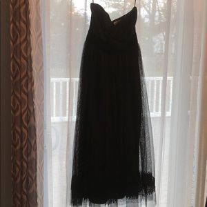 Vera Wang strapless cocktail black dress